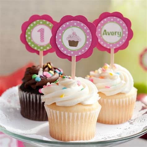 cupcake themed decorations items similar to cupcake decorations cupcake toppers