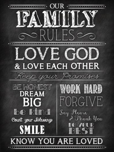 Free Family Rules Chalkboard Printable The Hamby Home