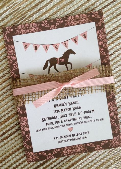 printable birthday invitations horse theme best 25 horse birthday parties ideas on pinterest horse