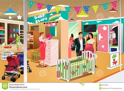 Buying A Crib by Buying A Crib Stock Vector Image 65681680