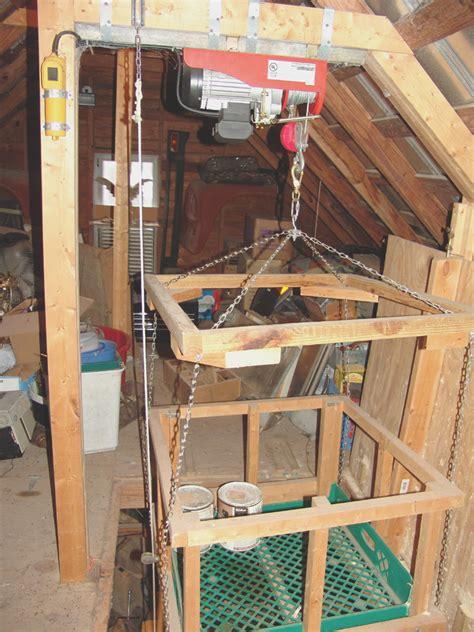 How To Install A Hoist In Garage by Lovely Attic Hoist 10 Garage Attic Elevator Lift