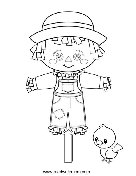 scarecrow coloring page free printable fall coloring pages for