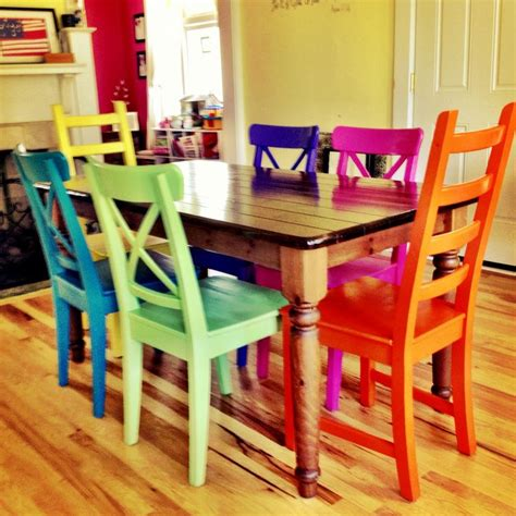Colourful Dining Table And Chairs Best 25 Coloured Dining Chairs Ideas On Dining Table With Chairs Pastel Kitchen