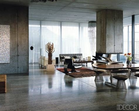 concrete floor apartment concrete wall penthouse in berlin