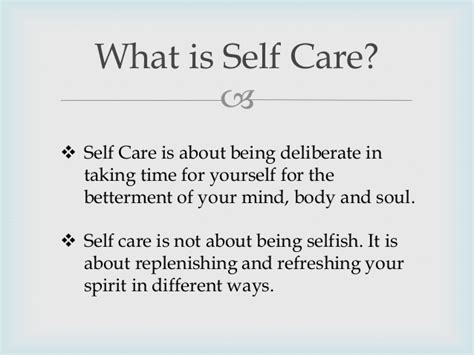 what is selves defining self care and self