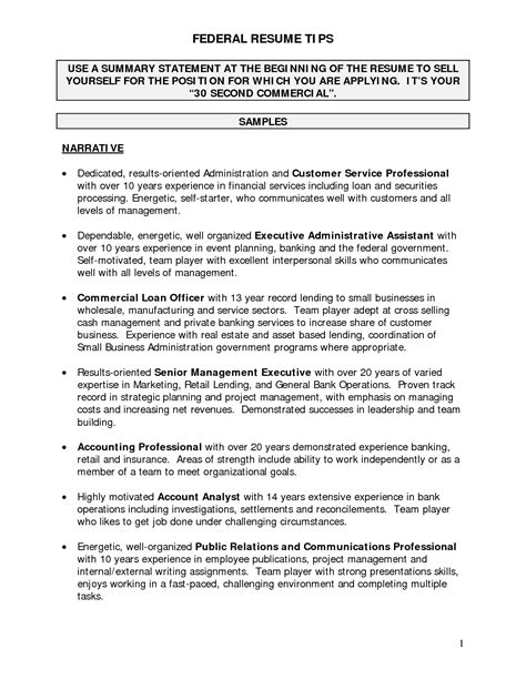 Narrative Resume by Resume Narrative Resume Ideas