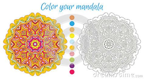 mandala coloring book fabulous designs to make your own mandala design for coloring book stock vector