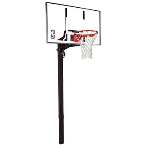 spalding basketball table spalding in ground basketball hoops 88461g 60 inch glass