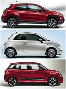 Fiat 500l Comparison Fiat 500x Vs 500l Vs 500 Italian Family Comparison