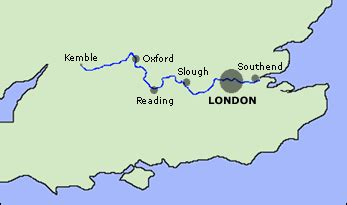 map of river thames from source to mouth river thames