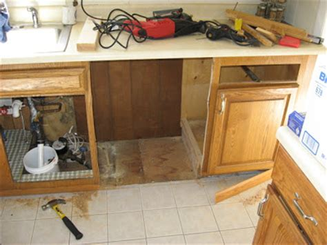 install a dishwasher in an existing kitchen cabinet diy disaster avoidance cutting the cabinet space for the