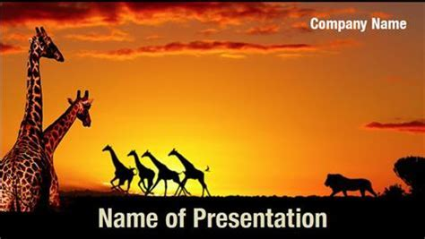 African powerpoint template animals of africa illustration vector south africa powerpoint templates powerpoint backgrounds toneelgroepblik Image collections