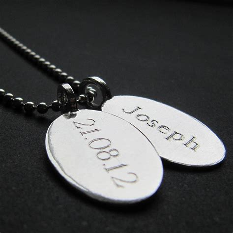 tag necklace chain silver tag chain necklace by gracie collins