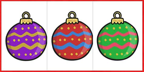extra large display christmas bauble cut outs patterned