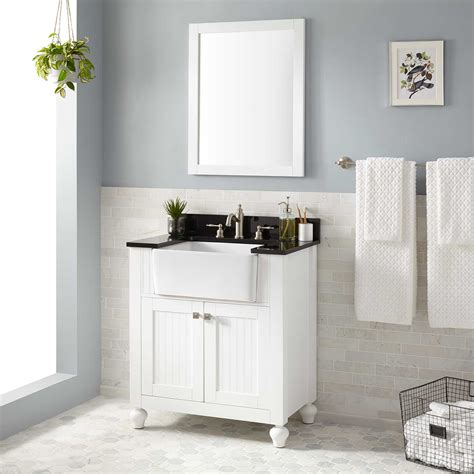 Farm Sink Bathroom Vanity by 30 Quot Nellie Farmhouse Sink Vanity White Bathroom