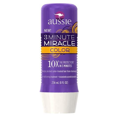 best drugstore shoo for colored hair aussie 3 minute miracle color conditioning treatment for