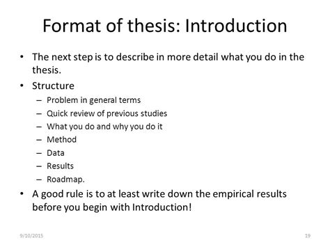 what to include in dissertation introduction thesis general remarks ppt
