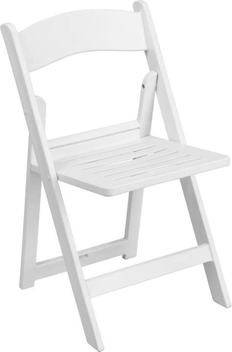 White Folding Chair by Hercules Series 1000 Lb Capacity White Resin Folding