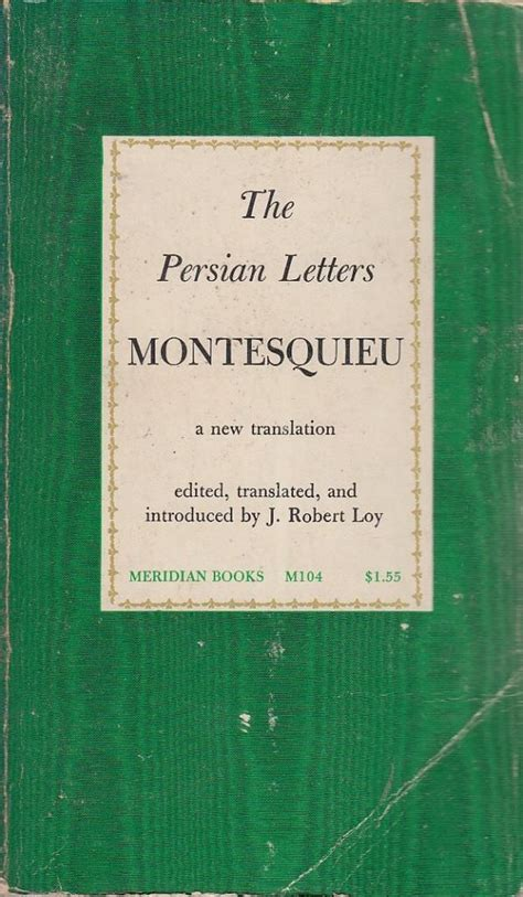 montesquieu letters letters by montesquieu paperback 1961 from