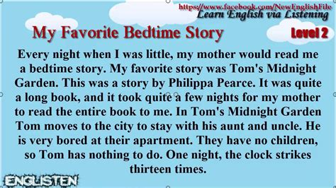 My Favourite Bedtime Stories Bedtime Stories Omnibus learn via listening level 2 unit 14 my favorite bedtime story