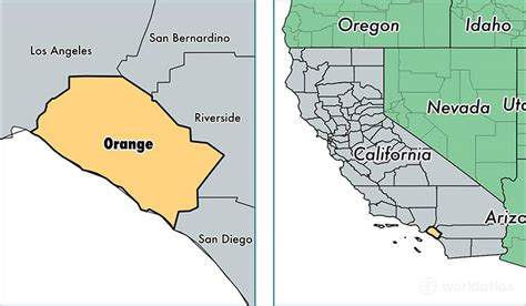 map of orange county ca orange county california map california map
