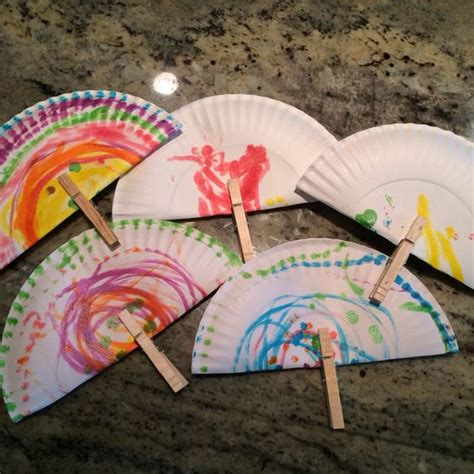 Paper Fan Craft - crafts crafting and kid on