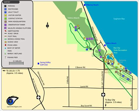 bay city recreation area map
