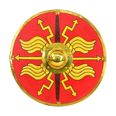 Greek Mythology Statues by Roman Parma Shield Red Ah6129 Roman Shields
