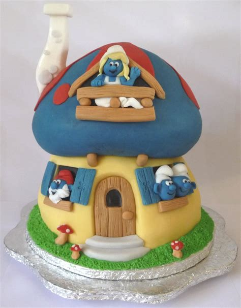 cake house smurfy cake stuff for my family the