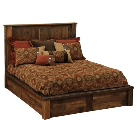 Cabin Bathroom Ideas rustic beds king size barnwood traditional platform bed