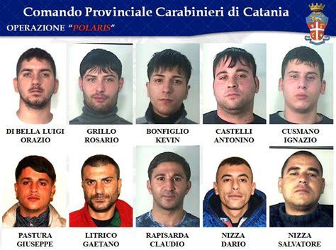 elenco famiglia roma droga a catania arresti clan nizza dei santapaola