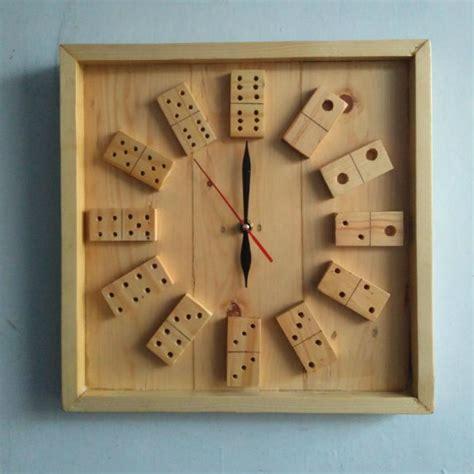 membuat jam dinding kayu contoh kerajinan tangan dari kayu jati belanda bekas palet