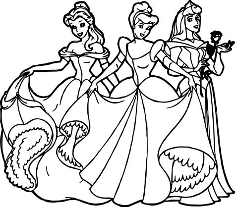 All Disney Princess Coloring Page Wecoloringpage Princess Drawing Free Coloring Sheets