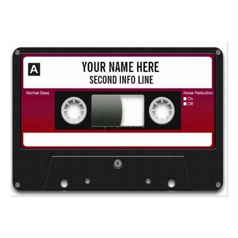 dj cassette tape mixtape large business cards pack of 100