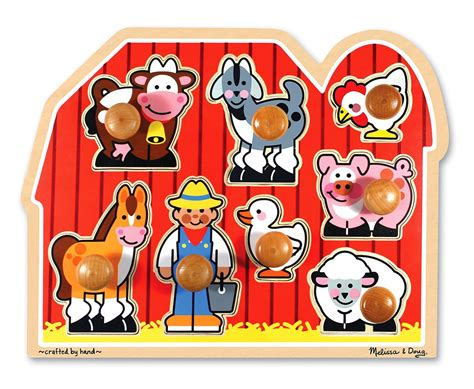 Spesial Knob Puzzle Zoo Animals doug farm animals jumbo knob wooden puzzle doug toys