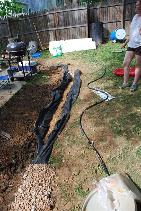 backyard french drain french drain yard and garden pinterest