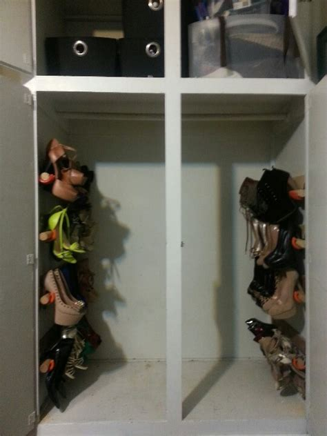 small closet shoe storage diy shoe storage for a small closet i ought 2 make this
