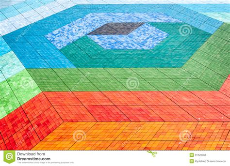 Colorful Floor Tile Tiled Mosaic Floor Of Different Colours Royalty Free