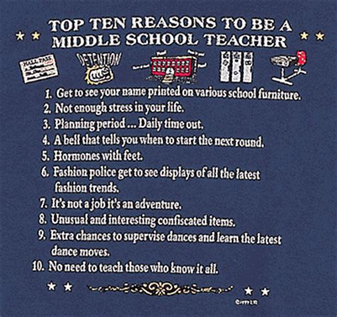 top 10 reasons to be a middle school