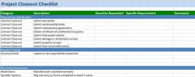 project completion checklist template free construction project management templates in excel
