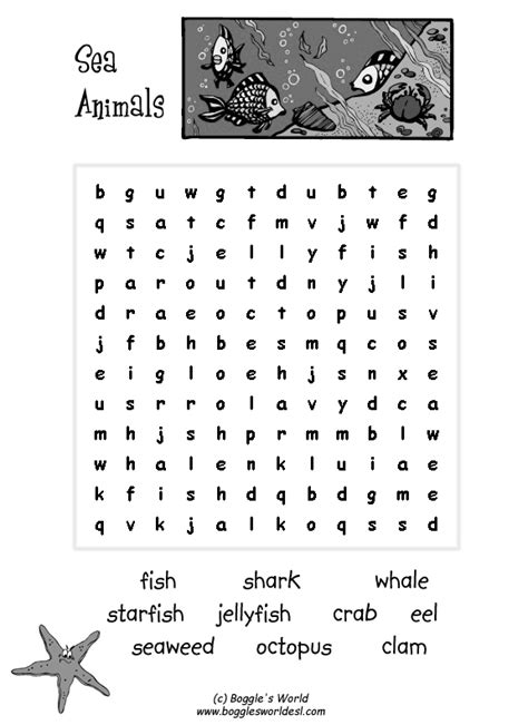 easy printable word searches for kindergarten esl wordsearches
