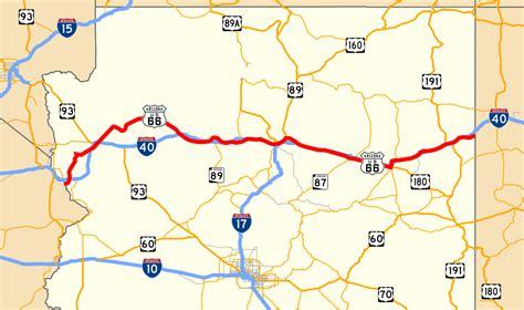 route 66 arizona map u s route 66 in arizona