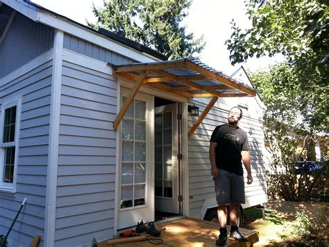 Wood Door Awning Plans
