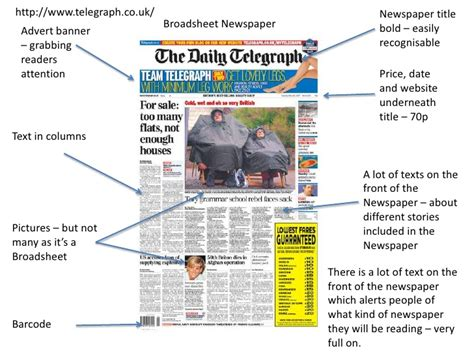 different sections of a newspaper a2 media studies deconstruction of newspapers