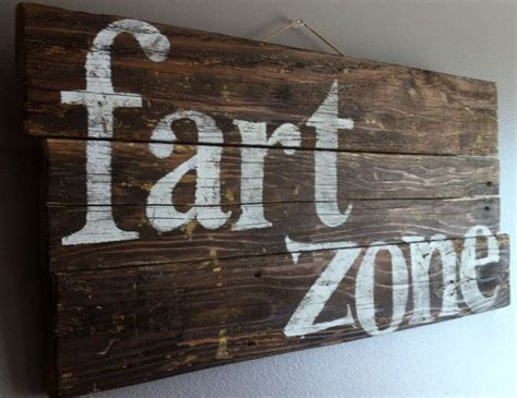 bathroom wall signs funny humorous quote quot fart zone quot reclaimed wood rustic