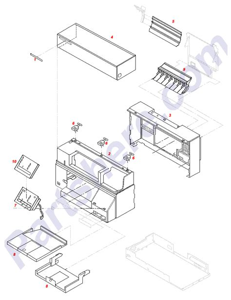 Parts Of A Desk by Hp Color Laserjet 4600dn Transfer Unit Laser