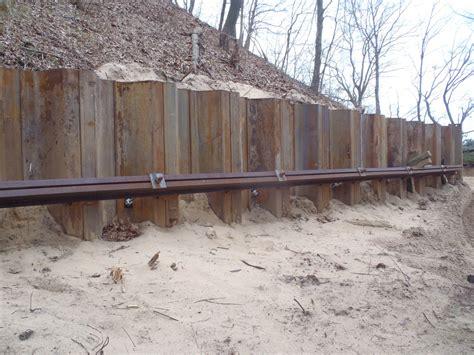 steel sheet pile retaining wall david herweyer flickr