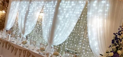 Pipe And Drape Ireland Fairy Light Backdrop Room Draping Entrance Drapes