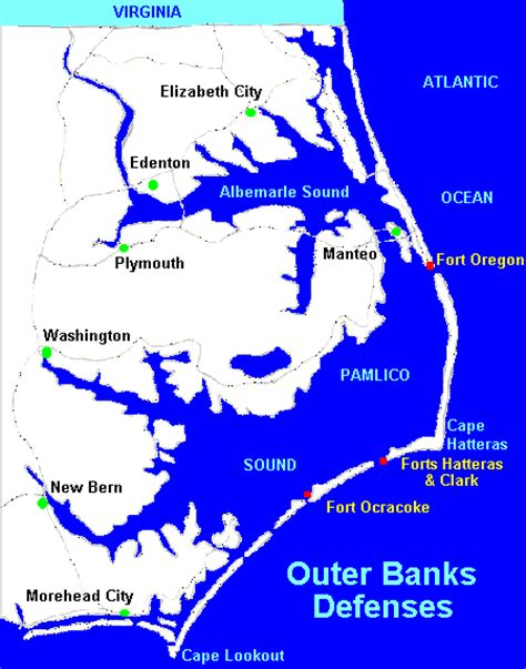 map of the outer banks carolina carolina coastal defenses outer banks