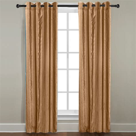 Gold Grommet Curtains Veratex Grand Luxe Gold Braxton Grommet Curtain Panel Contemporary Curtains By Overstock